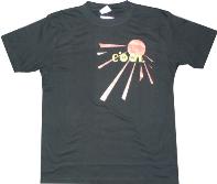 Пример печати водными красками на черной футболке